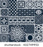 Set Patchwork Knitted With A...