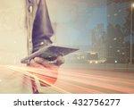 double exposure image of people ... | Shutterstock . vector #432756277