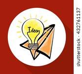 idea design. sketch icon. white ...   Shutterstock .eps vector #432761137