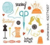 arts and crafts sewing hand... | Shutterstock .eps vector #432774307