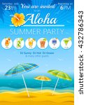 aloha luau beach party vector... | Shutterstock .eps vector #432786343