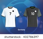color soccer t shirts of... | Shutterstock .eps vector #432786397