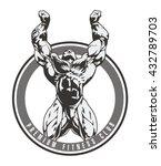 bodybuilder vector image  front ... | Shutterstock .eps vector #432789703