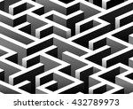 isometric seamless maze pattern.... | Shutterstock .eps vector #432789973