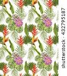 seamless tropical flower  plant ...   Shutterstock . vector #432795187