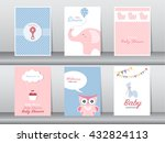set of greeting and invitation...   Shutterstock .eps vector #432824113