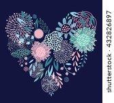 floral heart. vector... | Shutterstock .eps vector #432826897