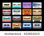 collection of retro colored...   Shutterstock .eps vector #432831013