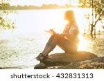 young beautiful woman artist... | Shutterstock . vector #432831313