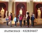 pupils and teacher on school... | Shutterstock . vector #432834607