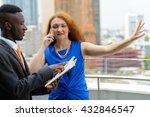 interracial business team... | Shutterstock . vector #432846547