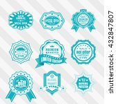 vintage bi colour labels vector ... | Shutterstock .eps vector #432847807