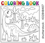 coloring book dinosaur topic 6  ... | Shutterstock .eps vector #432848407