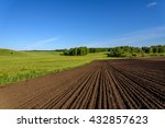 beautiful rural landscape with... | Shutterstock . vector #432857623