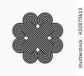 intertwined pattern. line... | Shutterstock .eps vector #432870613