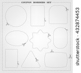 vector set of 9 coupon borders... | Shutterstock .eps vector #432874453
