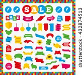 banners  sale stickers and sale ... | Shutterstock .eps vector #432874513