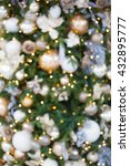 christmas tree decoration ... | Shutterstock . vector #432895777