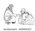 hand drawn christianity bible... | Shutterstock . vector #432902317