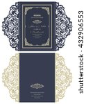 wedding invitation baroque.... | Shutterstock .eps vector #432906553
