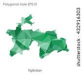 tajikistan map in geometric... | Shutterstock .eps vector #432916303