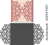 laser cut invitation card....   Shutterstock .eps vector #432917557
