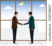 two businessmen or executives... | Shutterstock .eps vector #432918847