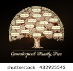 family tree in vintage style.... | Shutterstock .eps vector #432925543