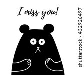 i miss you lettering  card with ... | Shutterstock .eps vector #432926497