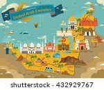 uae travel concept map with... | Shutterstock . vector #432929767