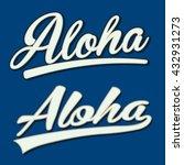 aloha typography  t shirt... | Shutterstock .eps vector #432931273