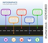 infographics template with... | Shutterstock .eps vector #432935803