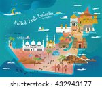 uae travel concept map with... | Shutterstock .eps vector #432943177