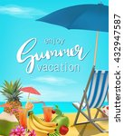 enjoy summer vacation vector... | Shutterstock .eps vector #432947587