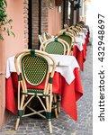 table and chairs at a... | Shutterstock . vector #432948697