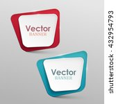 abstract vector banners set | Shutterstock .eps vector #432954793