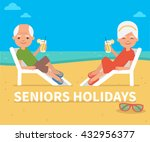 senior age couple family people ... | Shutterstock .eps vector #432956377