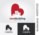 love building logo template.... | Shutterstock .eps vector #432957223