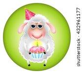 Sheep With A Cupcake...
