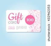 gift card. vector business... | Shutterstock .eps vector #432962353