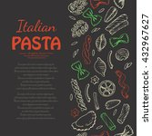 vertical pattern with italian... | Shutterstock .eps vector #432967627