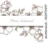 Vintage Flower Background. Dog...