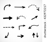 hand drawn arrows  vector set   Shutterstock .eps vector #432972217