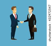 meeting of business partners.... | Shutterstock .eps vector #432972547