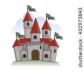 cartoon castle illustration | Shutterstock .eps vector #432973843