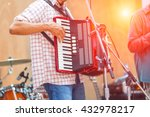 close up musicians are playing... | Shutterstock . vector #432978217