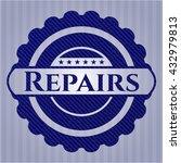 repairs with denim texture | Shutterstock .eps vector #432979813