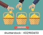 allocating eggs into more than... | Shutterstock .eps vector #432983653