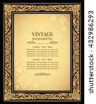 vintage gold background ... | Shutterstock .eps vector #432986293