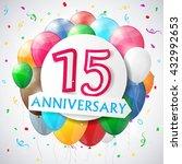 15 years anniversary... | Shutterstock .eps vector #432992653